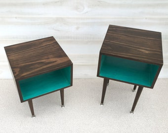 FREE SHIPPING A Pair Of Joilet Side Table Mid Century Modern Side Table  Midcentury Bed Side