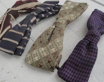 Vintage Bow Tie Navy Purple Rust