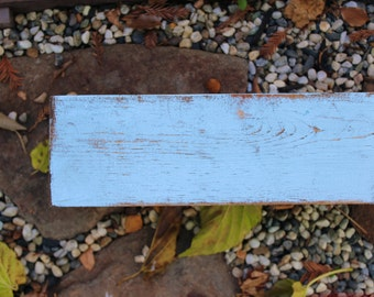 Wood - Floating Wall Shelf - Farmhouse Chic - Shelves - Old Wooden Shelving - 40 Inches Wide