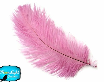 "Ostrich Feathers, 1/2 lb - 14-17"" Pink Ostrich Large Drab Wholesale Feathers (bulk) : 2051-D"