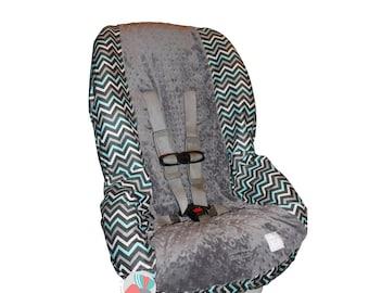 Toddler Car Seat Cover Chevron Sea