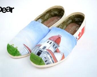 Custom Hand Painted TOMS Shoes - Kingdom of Tonga
