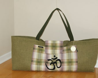 XXlarge Yoga Bag with Appliqued OM Symbol-Made to Order.