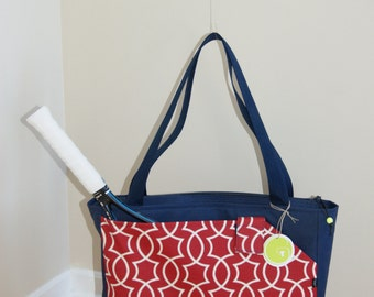 New !! Medium Size Tennis/Racket Bag Made from Water Repellent canvas.