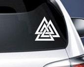 Valknut Vinyl CAR DECAL Pagan Odin Asatru Norse Viking Sticker