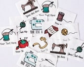 33 Custom Sewing Labels - Personalized Sew On Labels, 100% Organic Cotton Tags (craft labels)
