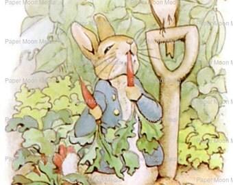 Large Nursery Digital Print From Beatrix Potter: Peter Rabbit, Instant Download JPG file