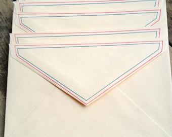VIntage Fine Stationary   . Set of 6  Envelopes
