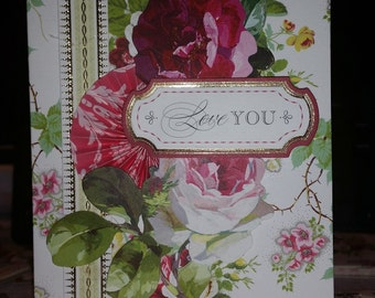 hand-made greeting card, greeting card, special occasion card, embellished card, anniversary card
