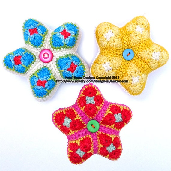 Little Stars African Flower Crochet Pattern
