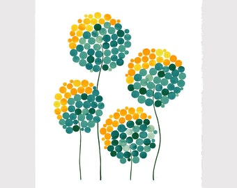 Inspirational art print - Giclee Art Print Reproduction of Watercolor Painting - WILD DANDELION FLOWERS - Trees of Life Collection