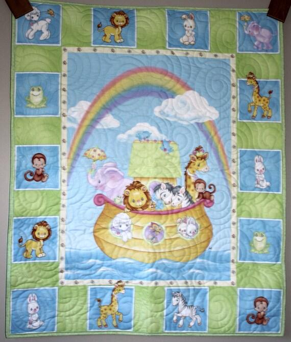 Precious Moments Noah S Ark Quilt Crib Lap Wall