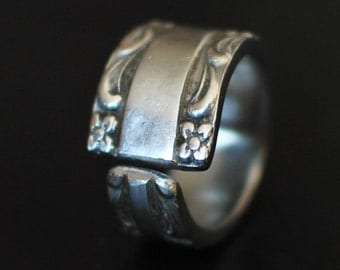 River of Life Stainless Steel Spoon Ring
