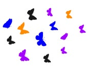Butterfly wall decals, girl bedroom wall decor, set of 12 butterflies, butterfly decal, butterfly sticker, laptop, notebook, computer