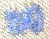 Blue Leaf Vintage German Glass Beads 60% off, qty 50