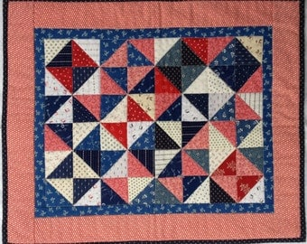 Patriotic Doll Quilt - Table Topper