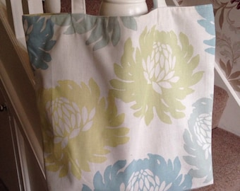 Clearance Sale - Floral Shopper Tote Bag - Upcycled Shopper - Recycled Tote - Amazing Gift - Re-Usable Shopper - Upcycled Tote