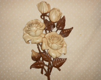 Rose Floral Wall Hanging Antiqued roses