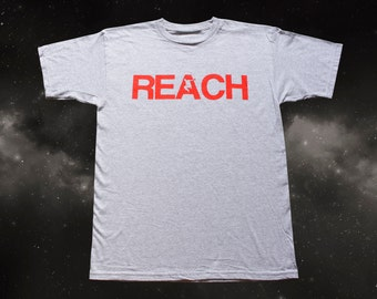 The REACH / ESCAPE Parkour T-Shirt - Athletic Grey with Infra Red print