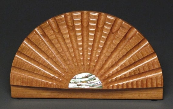 Decorative Abalone Inlaid Wood Jewelry Box from Exotic woods