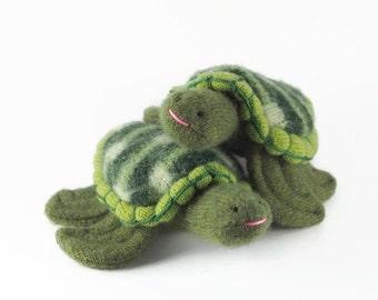Sea Turtle, waldorf toy, eco friendly toy, stuffed animal, all natural toy, toy turtle, stuffed turtle
