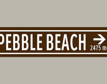 Custom Pebble Beach Golf Road Sign
