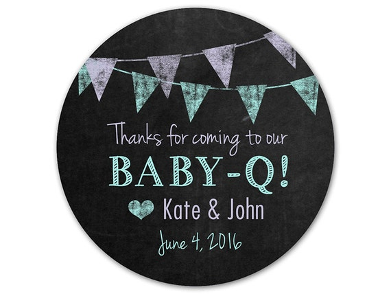 custom baby q stickers chalkboard labels by modernzebradesign With custom chalkboard stickers