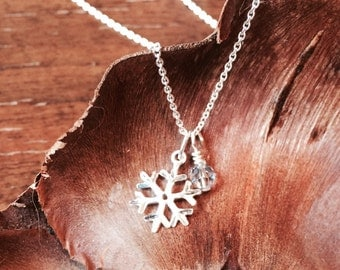 Sterling snowflake necklace