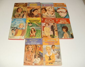 Group of Vintage Harlequin Romance Books from 1971 to 1976 - Paperback Books, Retro, Collectibles