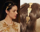 Mary Stuart Geometric Gold Headband- h688