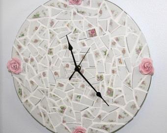Rose Mosaic Clock