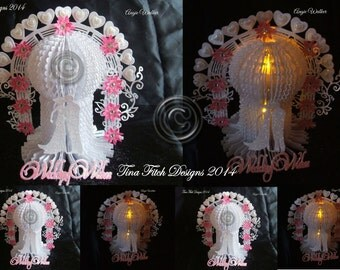 3D Wedding Tea Light Table Decoration Cutting File Template
