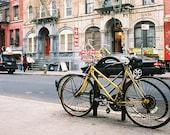 New York Bikes, East Village - 4x6 NYC postcard