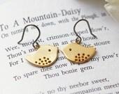 Matte Gold Birds Titanium Earrings Lovebirds Simple Everyday Children Hypoallergenic Earrings