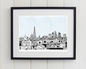 View From Peckham, London Limited Edition Screen Print
