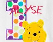 Girls Pooh Birthday Shirt, Winnie the Pooh Birthday Shirt, Custom Winnie the Pooh Birthday Shirt, Personalized Winnie the Pooh Birthday