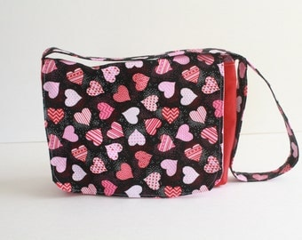 Sweet hearts Mini Messenger-kids messenger bag-  girls purse