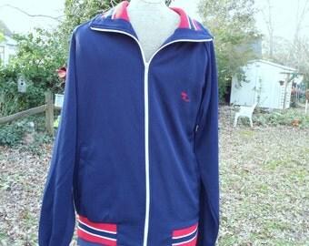 Vintage Running Jacket / Jogging Jacket / Warm Up Jackets /70s Jacket / Red White and Blue Vintage Jacket by Jog-Joy Size M