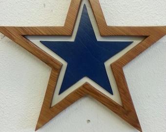 Dallas Cowboys Wooden Sign, Cowboys Wood Plaque, Handmade Cedar Wooden Dallas Cowboys Plaque - Cowboys Wall Art