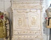 Painted Cottage Chic Shabby Romantic French Armoire AM157