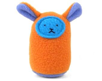 Plush Baby Rattle - Orange