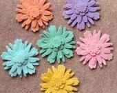 Hippie Chick - Dahlias - 48 Die Cut Wool Blend Felt Flowers