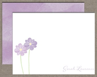 Notecards, Personalized Stationery, Painted Flower, Professional, Set of 15 Custom Cards with Envelopes