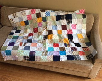 Vintage 1970's Multi-colored Baby Crazy Quilt