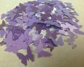 125 pc Paper Butterflies Purples Lavenders  Wedding Reception  Baby Shower