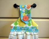 Hanging Kitchen Towel--Vintage Floral