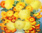 Beautiful Mid Century Marion Rice Framed Art