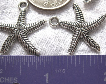 Starfish Charm Tibetan Silver Jewelry Supply 2 pieces pendant pendent star fish