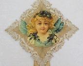 Antique 1904 Edwardian Valentine's Angel Card