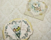 Pair of Antique Ernest Nister Victorian Fold Out Valentine's Day Cards